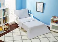 Everyday Kids 4 Piece Toddler Bedding Set - Solid Grey