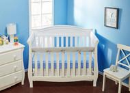 Everyday Kids Padded Baby Crib Rail Cover - Grey