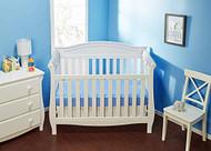 Everyday Kids 2 Piece Padded Baby Crib Rail Cover - Grey