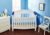 Everyday Kids 2 Piece Padded Baby Crib Rail Cover - Navy