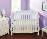 Everyday Kids 2 Piece Padded Baby Crib Rail Cover - Pink