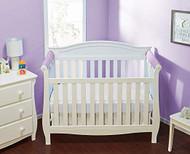Everyday Kids 2 Piece Padded Baby Crib Rail Cover - Purple