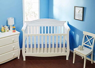 Everyday Kids 2 Piece Padded Baby Crib Rail Cover - White