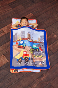 Everyday Kids Toddler Nap Mat with Removable Pillow - Under Construction