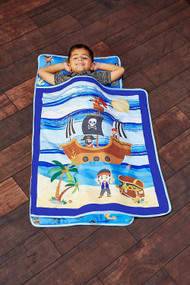 Everyday Kids Toddler Nap Mat with Removable Pillow - Pirates Treasure