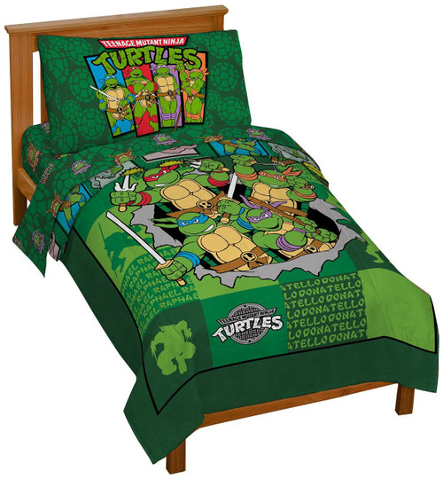 ninja turtles 4pc toddler bedding set image 1 - Ninja Turtles Toddler Bedding Set