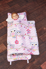 Everyday Kids Toddler Nap Mat with Removable Pillow - Sweet Owls