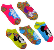 Disney Minnie Mouse 5-Pack No Show Socks