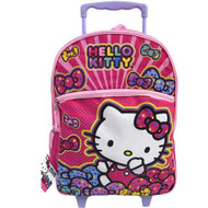Hello Kitty Bows 16-Inch Rolling Backpack
