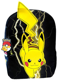 Pokemon Pikachu Lightning Black 18-Inch Backpack