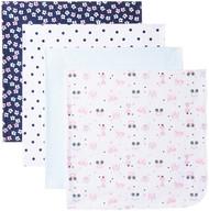 GERBER Baby Girls' 4-Pack Flannel Receiving Blankets