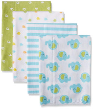 Gerber Baby 4-Pack Flannel Burp Cloths
