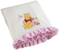 Disney Precious Pooh Applique Scenic Blanket