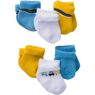 Gerber Baby Boys' 6-Pair Sock Little Cars - 3-6 Months
