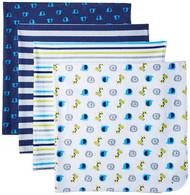 Gerber Baby Boys' 4-Pack Flannel Receiving Blankets
