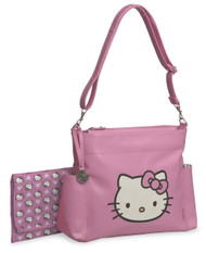Hello Kitty Pink/White Vinyl Applique Diaper Tote Bag