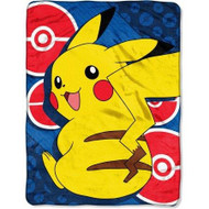 Pokemon Pikachu 'He is Electric' Plush Throw