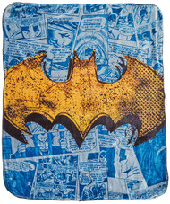 "Batman ""Great Hero"" Double Sided Cloud Throw"