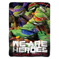 "Teenage Mutant Ninja Turtles ""We Are Heroes""  Micro Raschel Throw Blanket, 46-inch by 60-inch"