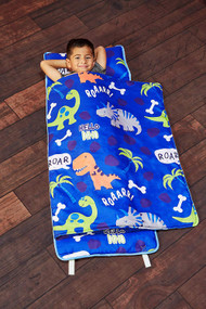 Everyday Kids Toddler Nap Mat with Removable Pillow - Roarin' Dinos