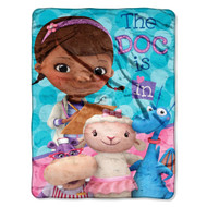 "Doc McStuffins ""We Care Together"" Micro Raschel Blanket, 46 by 60-Inch"