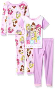 Disney Multi-Princess 4-Piece Pajama Set - Size 2