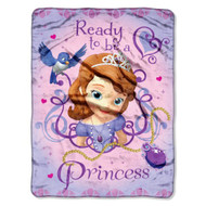 Sofia The First Ready To Be A Princess Micro Raschel Blanket, 46 by 60-Inch