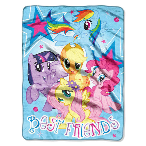 """My Little Pony, Best Friends"" Micro Raschel Throw, 46 by 60-Inch"