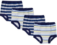 Gerber Little Boys 4-Pack Training Pants - Blue Stripes (3T)
