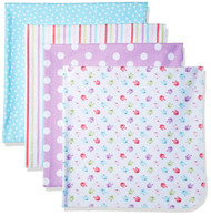 GERBER 4-Pack Flannel Receiving Blankets - Little Birdie
