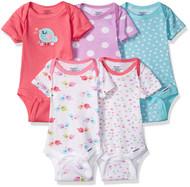 GERBER Baby Girls 5-Pack Variety Onesies - Little Birdie (Newborn)