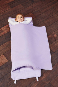 EVERYDAY KIDS Toddler Nap Mat with Removable Pillow - Lavender