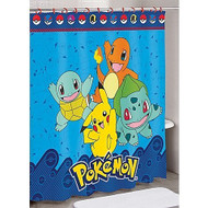 Pokemon I Choose You Pikachu & Friends Shower Curtain