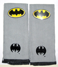 Batman 2-Pack Embroidered Black Logo Hand Towel