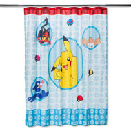 Pokemon 'Speed Moves' Shower Curtain
