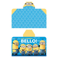 Minions 'Just a Friendly Bello' Hooded Towel