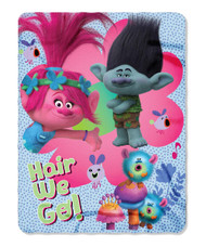 "Trolls ""Hair for a Reason"" Fleece Throw"