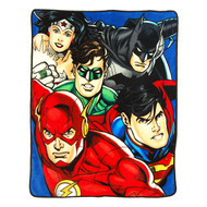 "Justice League ""On Your Mark"" Super Plush Throw"