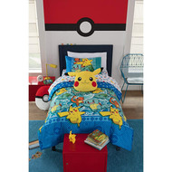 "Pokémon ""First Starters"" Twin 4-Piece Comforter Set"