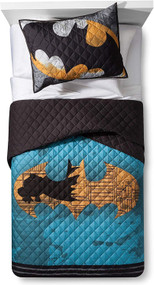 Batman Twin/Full Quilt and Sham