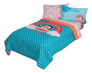 Paul Frank Julius Rainbow Dots Reversible Twin Comforter