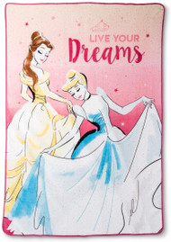 Disney Princess 'Live Your Dreams' Plush Blanket