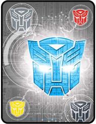 Transformers 5 'Steel Heroes' Plush Throw Blanket