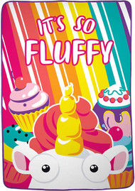 Despicable Me Fluffy Unicorn 'Sugar & Candy' Blanket