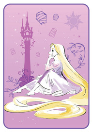 Disney Princess Rapunzel 'Daydreamer' Plush Blanket