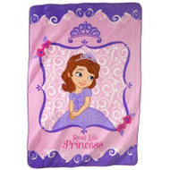 "Sofia the First ""Real Life Princess"" Plush Blanket"