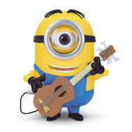 Minions Minion Stuart Interacts with Guitar