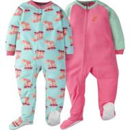 Gerber Toddler Girl 2-Pack 'Fox' Blanket Sleeper - 3T