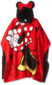 Disney Minnie Mouse 'Pretty & Poised' Kids Hooded Poncho