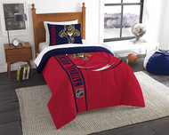 NHL Montreal Canadiens Puck Twin Comforter & Sham Set